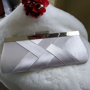 Bags - Silver Evening Bag